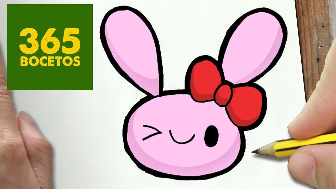 como dibujar conejo kawaii paso a paso   dibujos kawaii