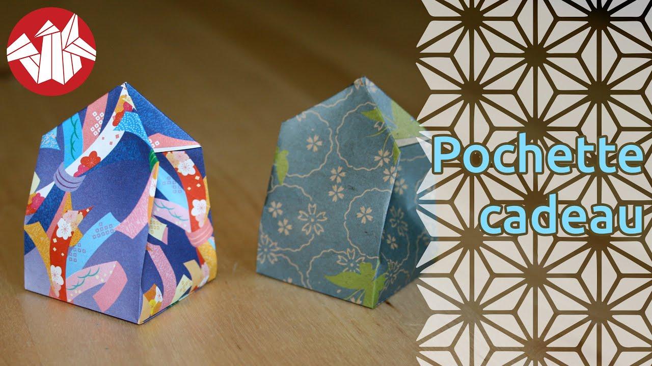origami pochette cadeau gift bag senbazuru youtube. Black Bedroom Furniture Sets. Home Design Ideas