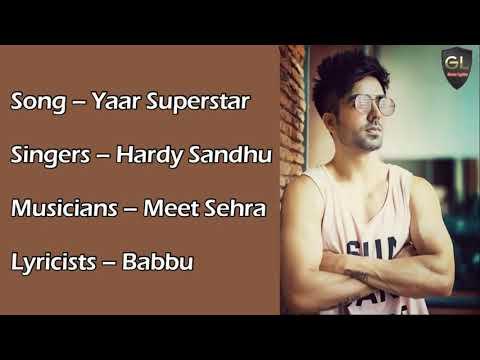 Yaar Superstar Full Song (Lyrics) Hardy Sandhu Speed Records 2.O