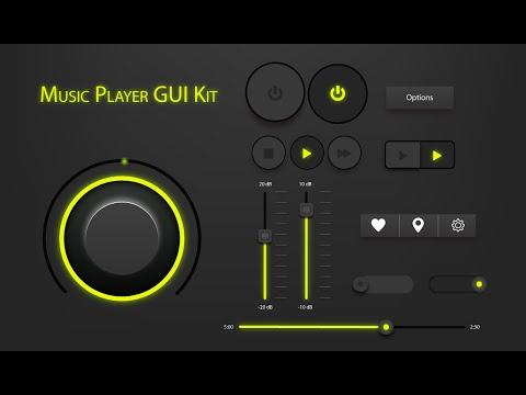 Illustrator CC Tutorial  Graphic Design  GUI Kit Music Player 01