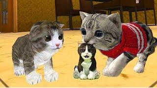СИМУЛЯТОР Маленького КОТЕНКА #4 КОШКА родила котика. Видео для детей от КИДА #ПУРУМЧАТА
