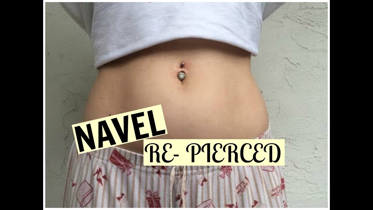 I Got My Belly Button Re Pierced Vikamenabeauty Youtube
