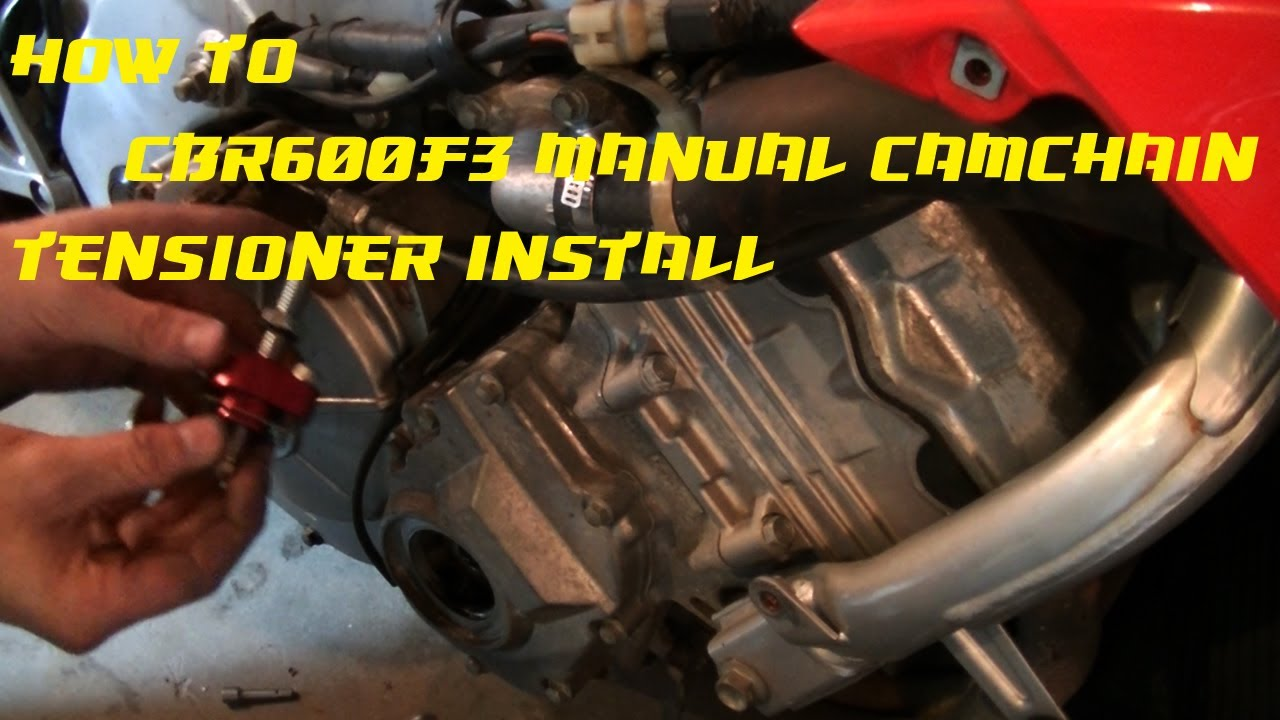 How To Install A Manual Cam Chain Tensioner Honda Cbr600 F3