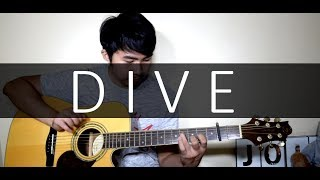 Ed Sheeran - Dive (Fingerstyle cover by Jorell) KARAOKE | LYRICS