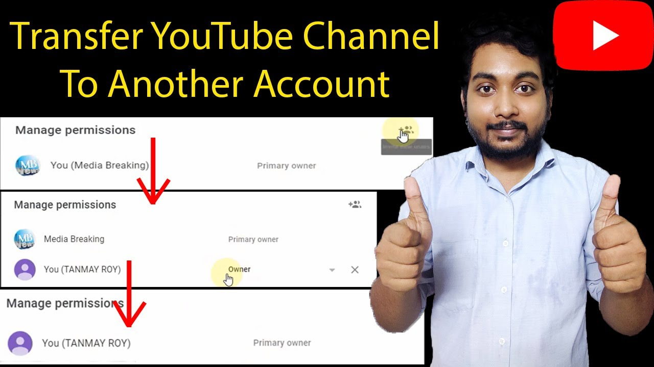 How To Transfer Youtube Channel To Another Account 2020 How To Change Youtube Channel Email Id Youtube