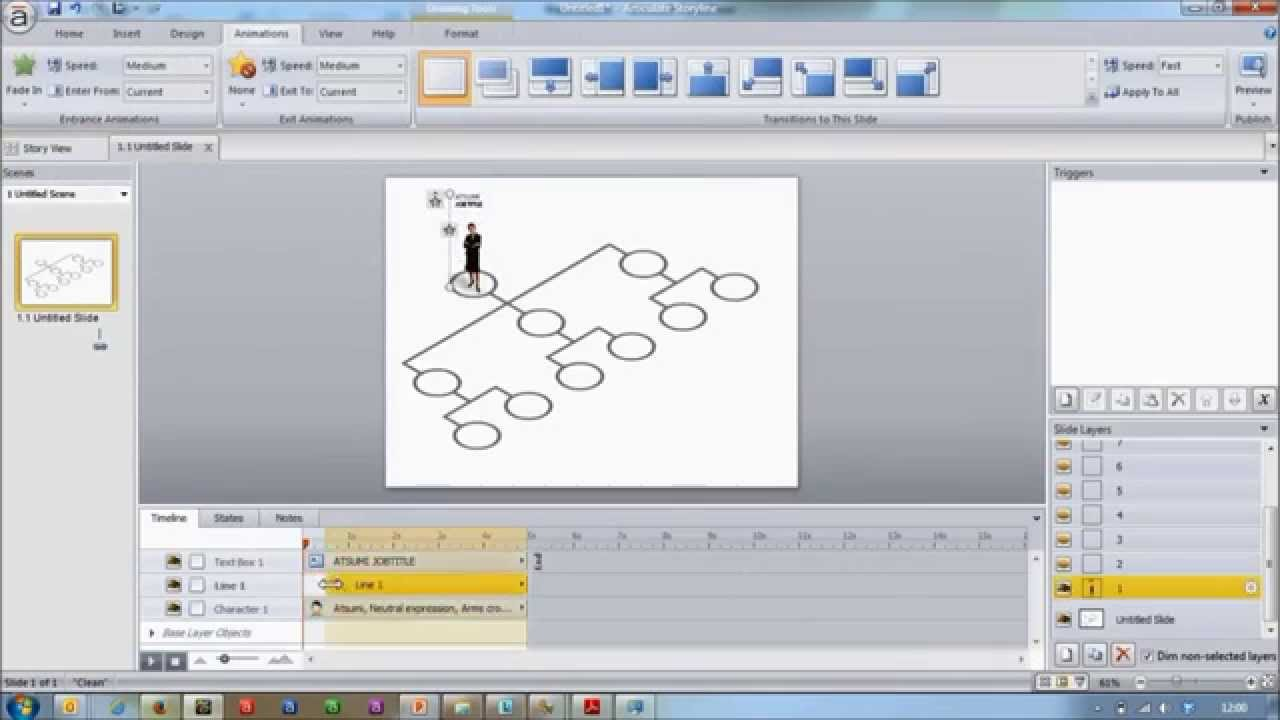 building an interactive org chart in articulate storyline timelapse - Interactive Org Charts