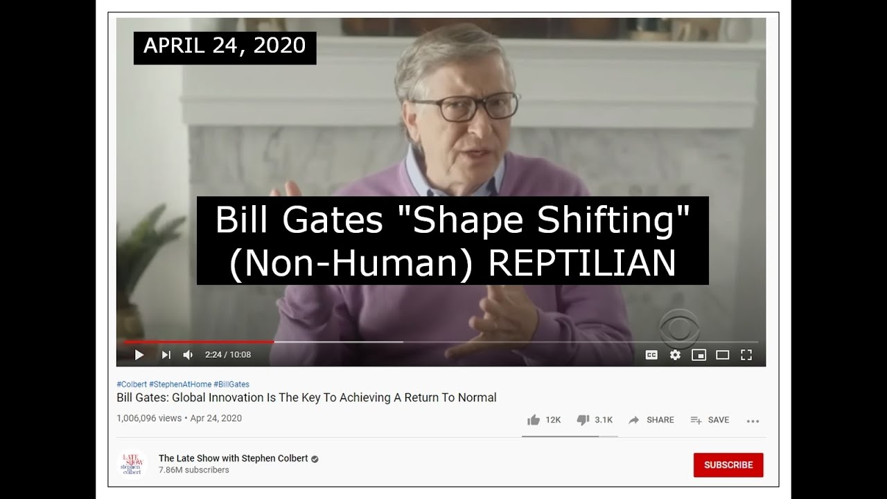 PART 2 ----- Bill Gates Shape Shifting (non-human) REPTILIAN