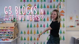 Sewing 63 quilt blocks + little mister VLOG - Tree Tree House quilt Part 3