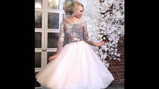 Коктейльное розовое платье (юбка и топ) Mono