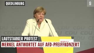 Merkel antwortet auf Pfiffe: