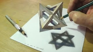 Trick Art Drawing - How to Draw 3D Star - Drawing an Anamorphic Illusion