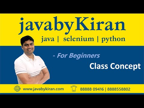 Class Concept-By Kiran Sir-JAVA By Kiran,Pune