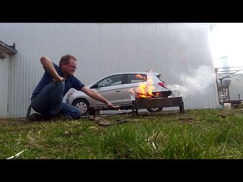 Wood burning sideblast forge