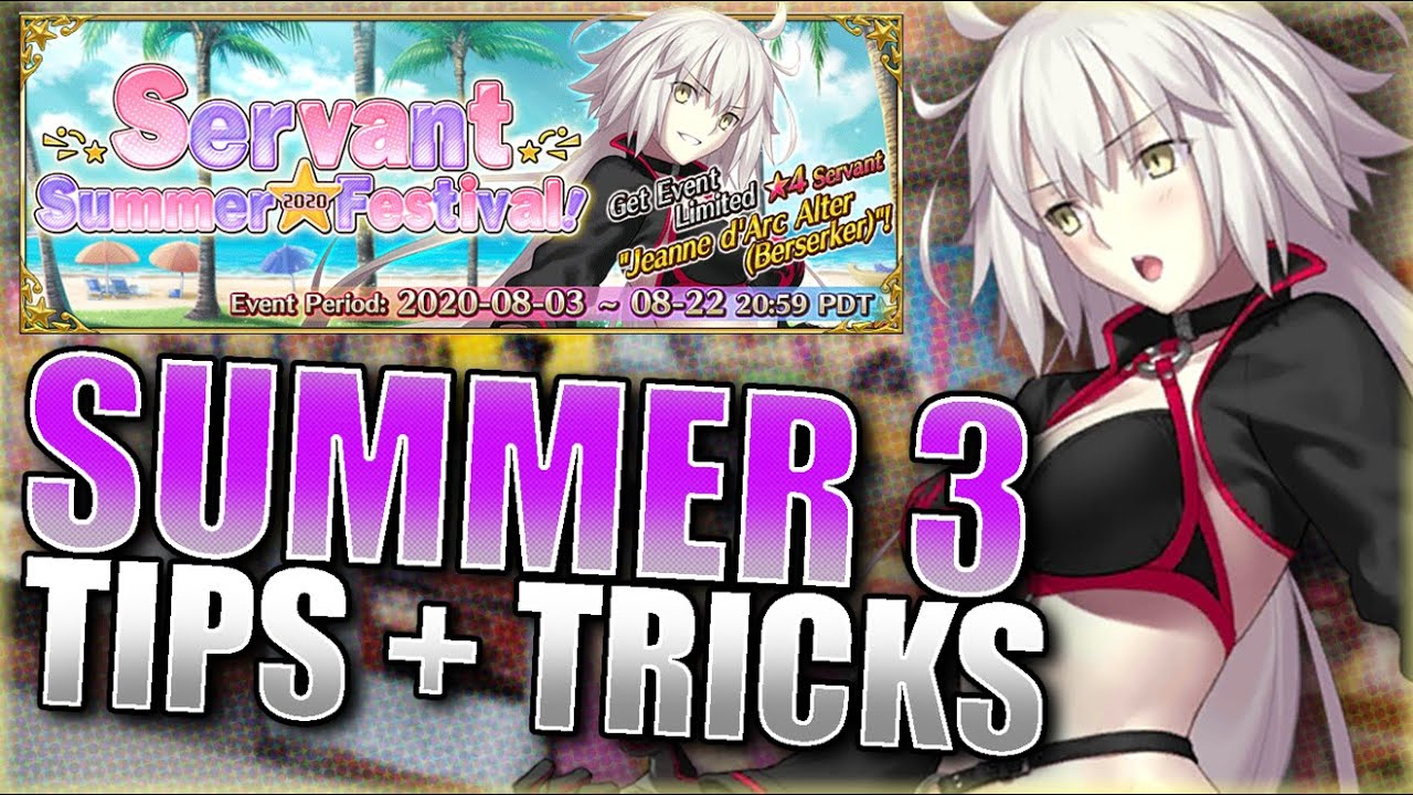 SUMMER 3 EVENT GUIDE! TIPS + TRICKS! Fate Grand Order