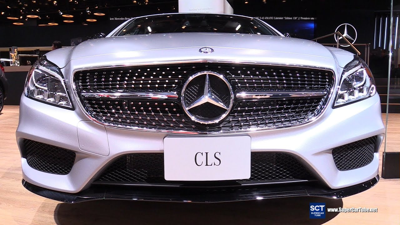 2016 mercedes cls class cls 400 4matic exterior and interior walkaround 2016 detroit auto. Black Bedroom Furniture Sets. Home Design Ideas