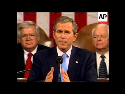 Presidential address to Congress on terrorism plus reax