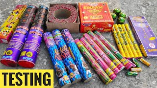 Testing Different types of Diwali firecrackers 2019||CY