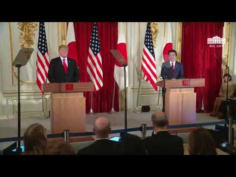 President Trump Participates in a Joint Press Conference with the Prime Minister of Japan