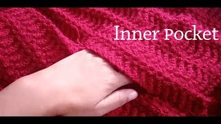 Knitting Inner Pocket for Cardigan & Jacket