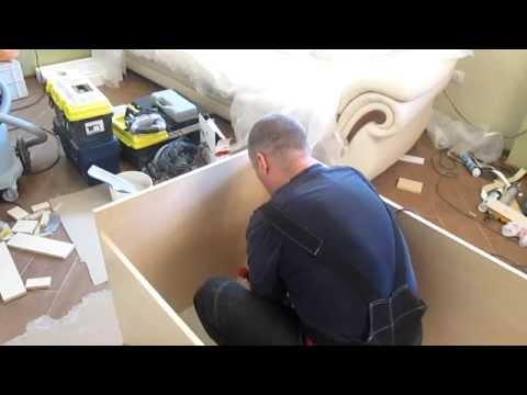 видео: Сборка  простого шкафа купе, часть 1