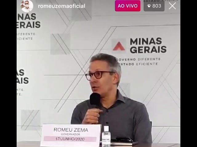 Pronunciamento do Governador de Minas Gerais 17/06/2020