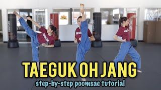 POOMSAE TAEGUK OH JANG TUTORIAL   Samery Moras Taekwondo