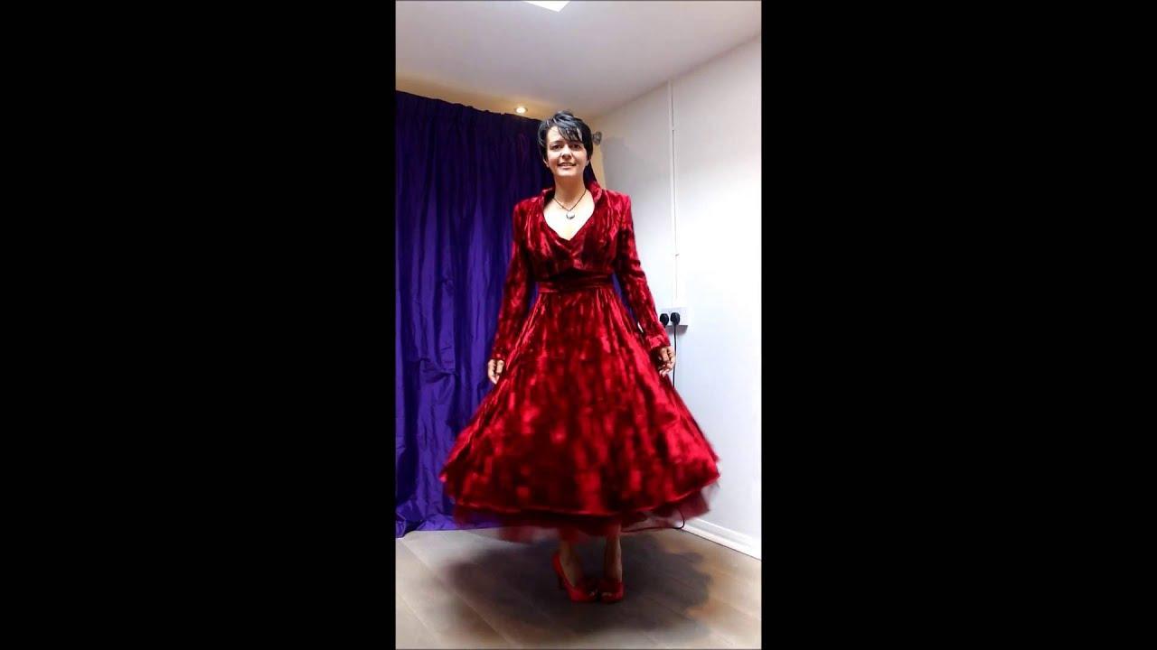 Red Crushed Velvet Wedding Dress - YouTube