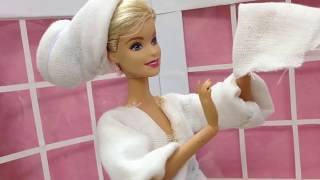 May áo choàng tắm cho búp bê Barbie