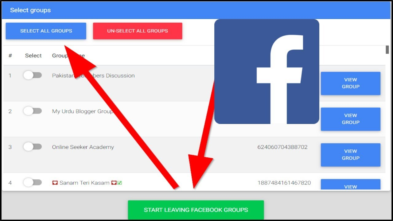 How to Leave All Facebook Groups in one Click !!!