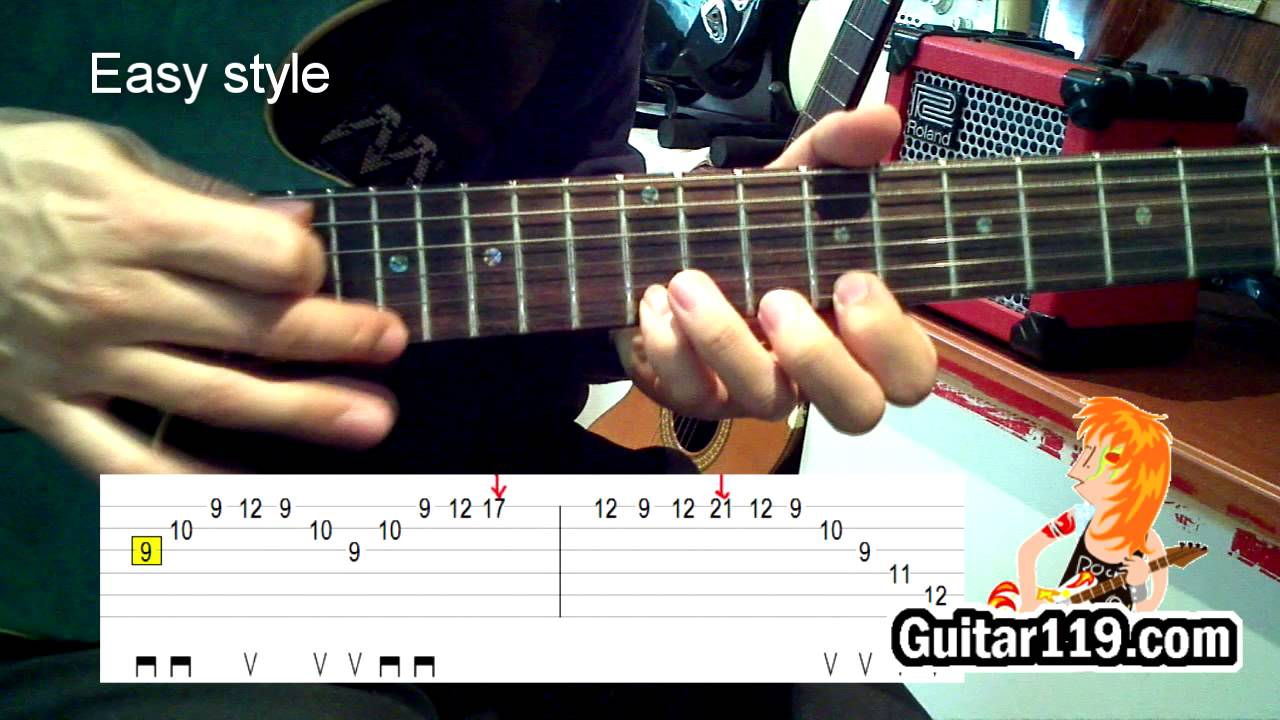 canon rock_lesson(with tab)_ part5(sweep picking)