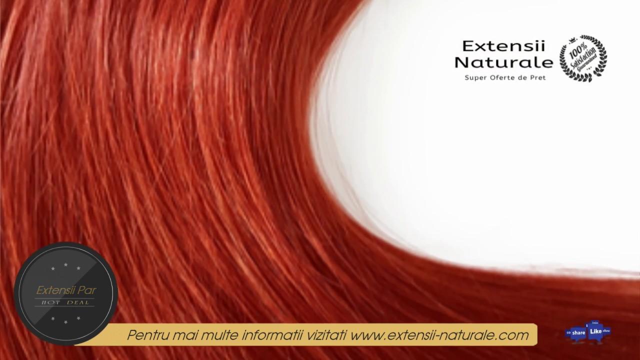 Extensii Par Extensii De Par Natural Clip On Premium Roscat 35