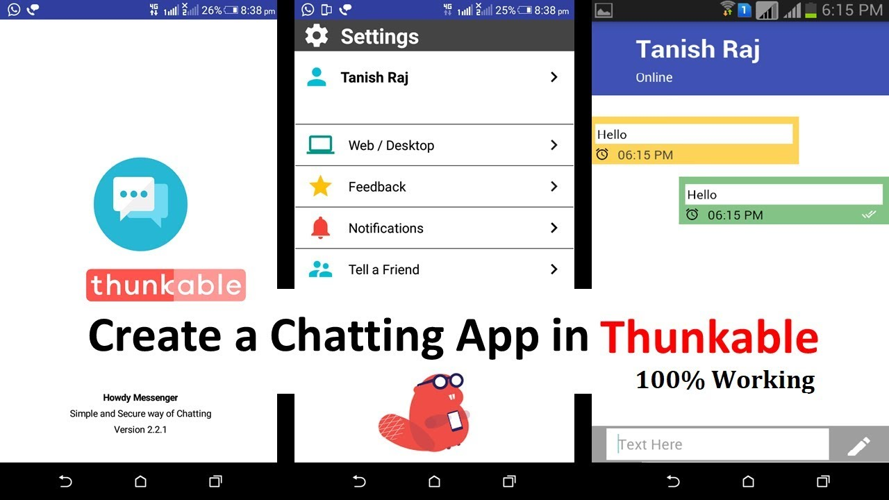 Create a Chatting App in Thunkable | Free AIA | 100% Working