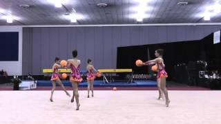 Junior Group Exhibition - 2012 Rhythmic Nationals - Sr Day 1
