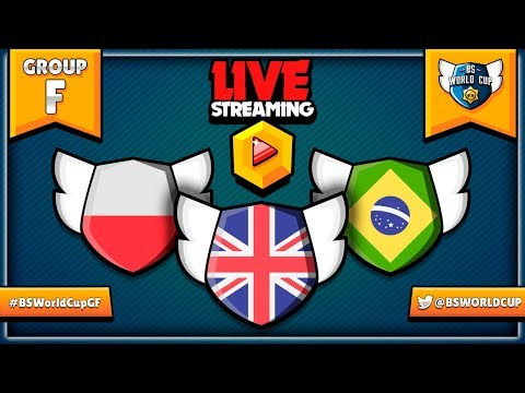 🔴 BRAWL STARS WORLD CUP LIVE! - Group F Matchups - Great Britain, Poland & Brazil #BSWorldCup2019
