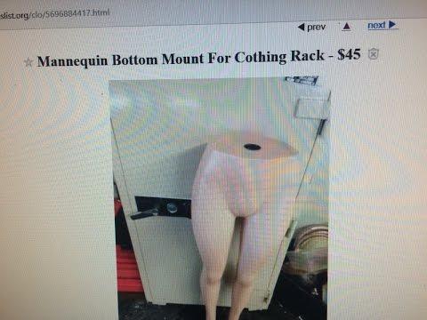 Funny Craigslist Ad -  Mannequin  Bottom For Sale! - July 19, 2016