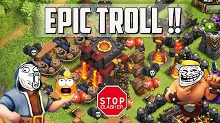 "Clash of Clans   ""FUNNY TROLL ""   Epic troll base dans Clash of Clans!"