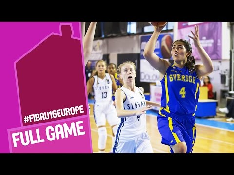 Slovak Republic v Sweden - Full Game - FIBA U16 Women's European Championship 2016