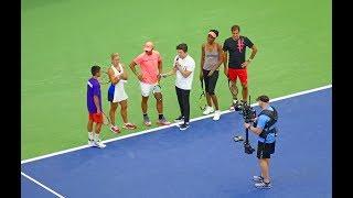Roger Federer, Rafael Nadal, Venus Williams and Angelique Kerber at US Open Arthur Ashe Kids Day 201
