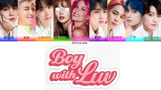 BTS (방탄소년단) Boy With Luv  feat. Halsey (Bts and You - 8th Member)(Color Coded Lyrics Eng/Rom/Han/가사)
