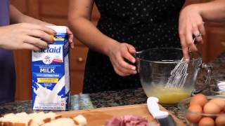 Bread Pudding With Ham And Gruyere Cheese Recipe Made With Lactaid® Milk