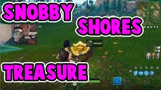 SNOBBY SHORES TREASURE MAP LOCATION | QUICK AND EASY | BATTLE PASS 3 | Fortnite Battle Royale