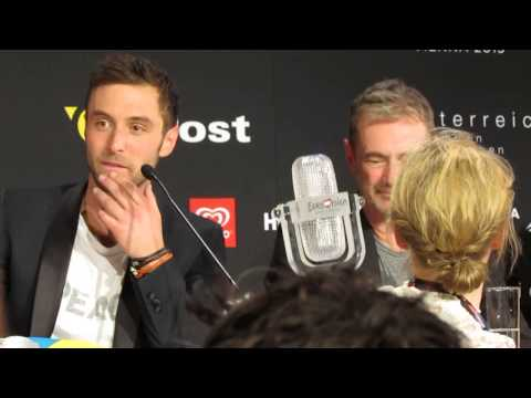 ESCKAZ in Vienna: Måns Zelmerlöw (Sweden) winners press-conference Part 1