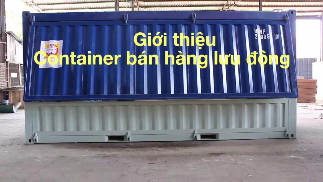Container bán hàng, công ten no cafe, cong ten nơ cửa tự động