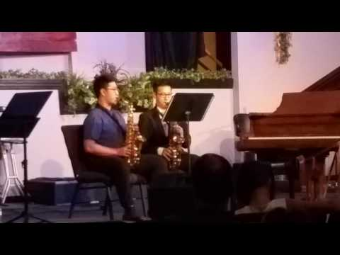 World of Music Spring Recital in 2017: Saxophone Duet