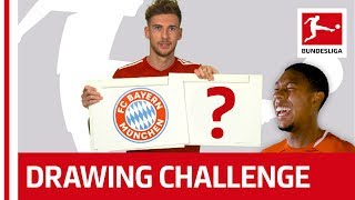 Bundesliga Stars Try to Draw Their Team Logos - Witsel, Goretzka & Co.