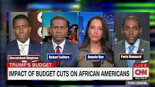 Biased Left Don Lemon Disrespects Black Conservative Paris Dennard in debate over Trump Budget Cuts