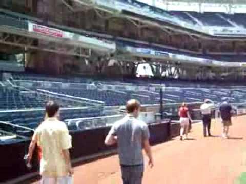 Petco Park Tour - San Diego Padres Baseball Dugout