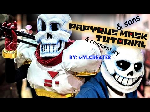 Papyrus Sans Mask Tutorial Commentary By Mylcreates Youtube
