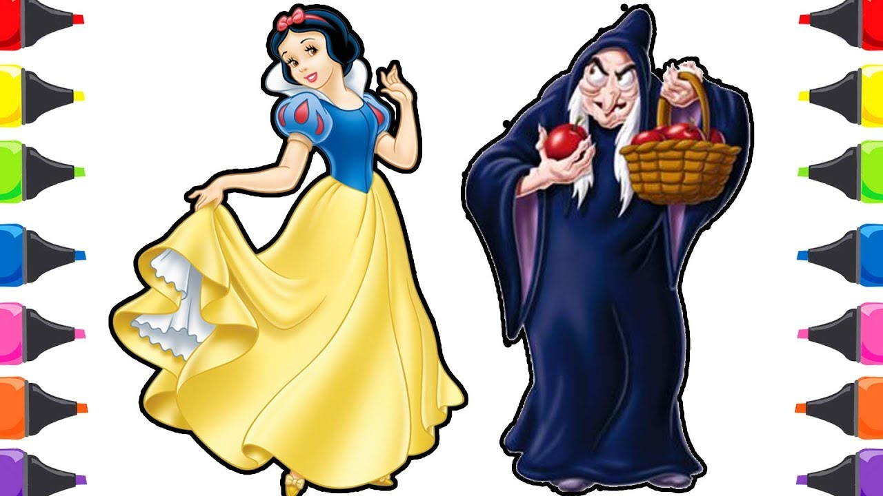 Pamuk Prenses Ve Yedi Cüceler Masalı Cadı Boyama Renkleri öğreniyorum