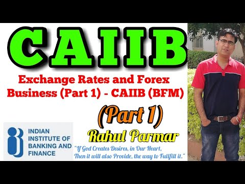 Exchange Rates and Forex Business (Part 1) - CAIIB (BFM) Video